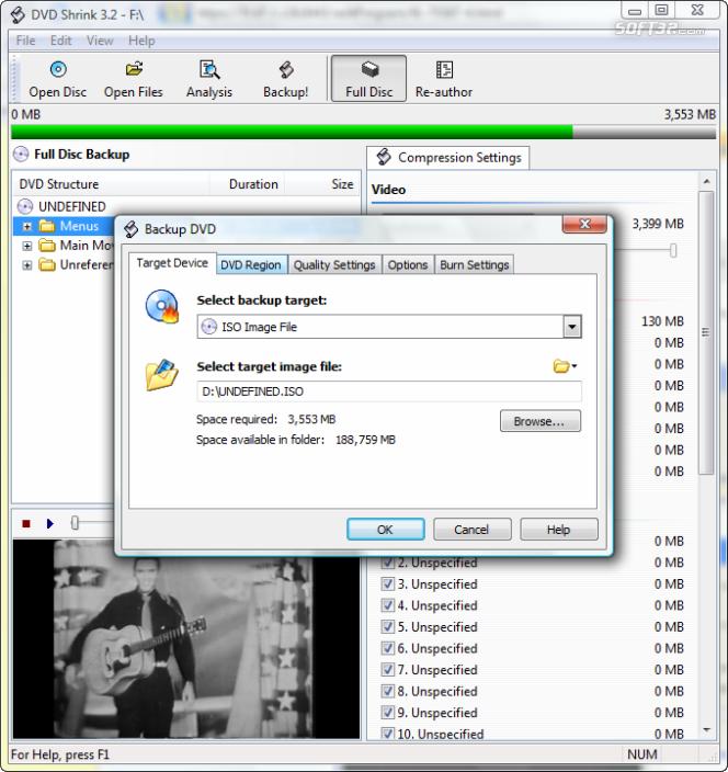 Dvd Shrink screenshot 1