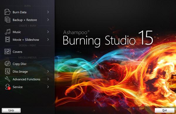 Ashampoo Burning Studio 15 screenshot 1