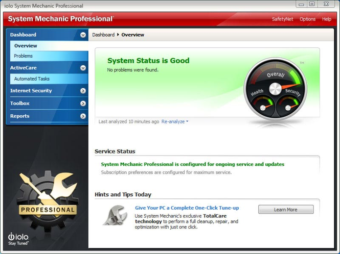 System Mechanic Professional screenshot 1