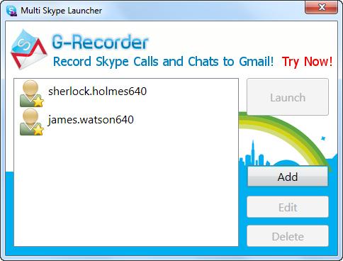 Multi Skype Launcher screenshot 1