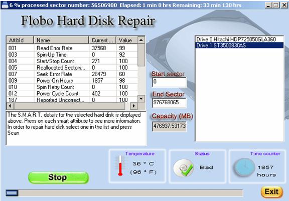 Best Flobo Hard Disk Repair screenshot 1