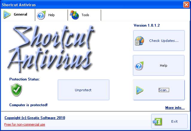 Shortcut Antivirus screenshot 1