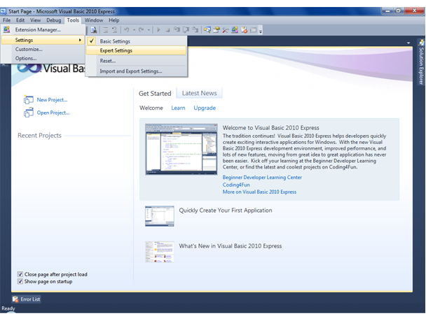 Microsoft visual studio 2010 express | ξxτяξмξ.
