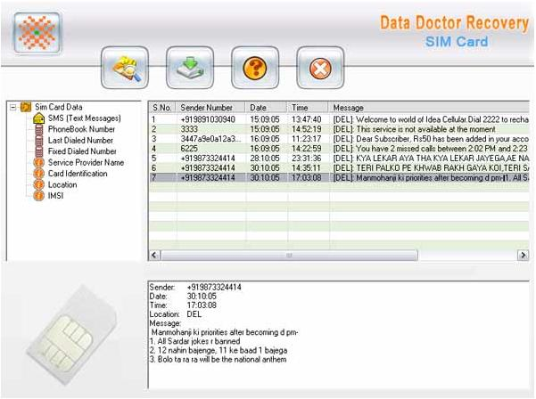 Data Doctor Recovery Mobile SIM Card screenshot 1