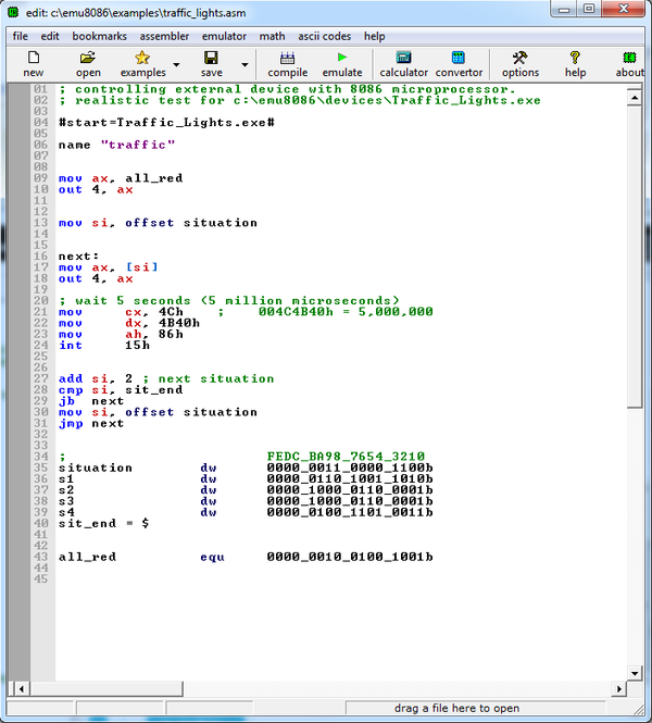 EMU8086 screenshot 1