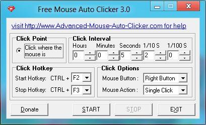 Free Mouse Auto Clicker screenshot 1