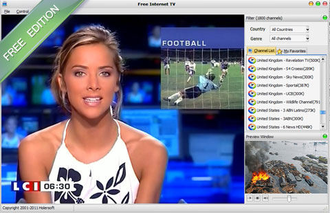 Free Internet TV screenshot 1