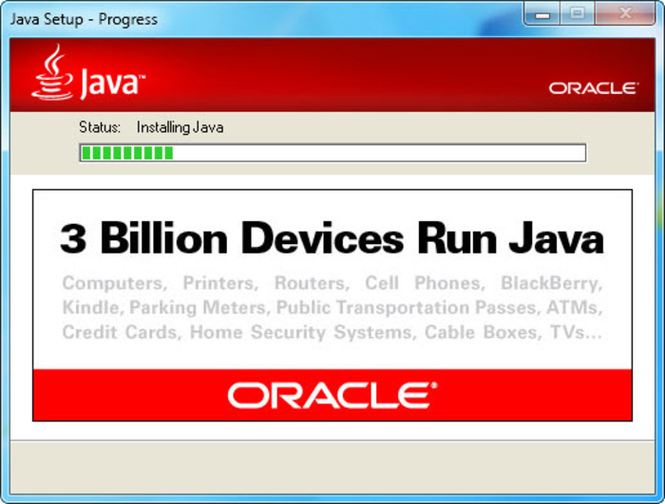 Java Runtime Environment screenshot 1