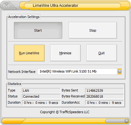 LimeWire Ultra Accelerator screenshot 2