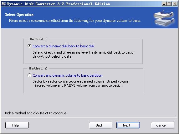 Dynamic Disk Converter screenshot 1