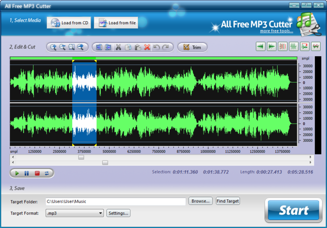 All Free MP3 Cutter screenshot 1
