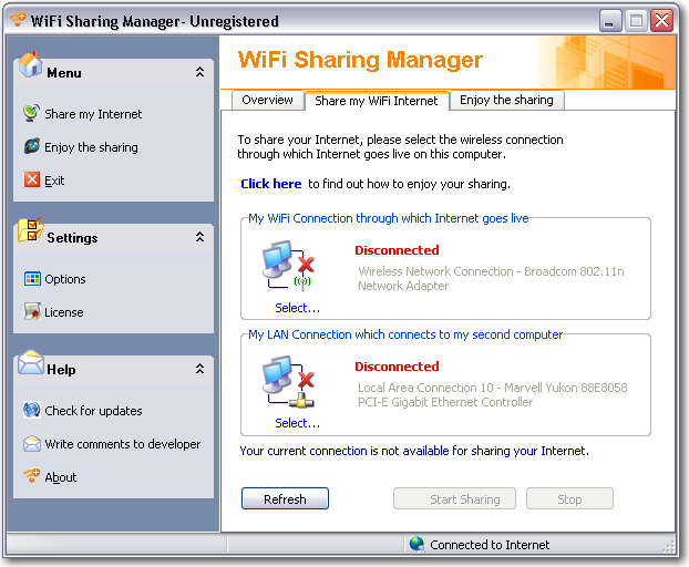 WiFi Sharing Manager screenshot 1