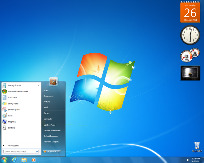 Windows 7 (SP1 included) screenshot 1