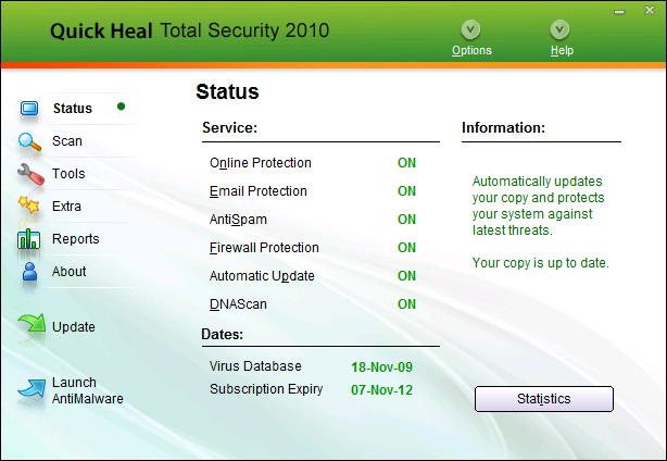 Quick Heal Total Security screenshot 1
