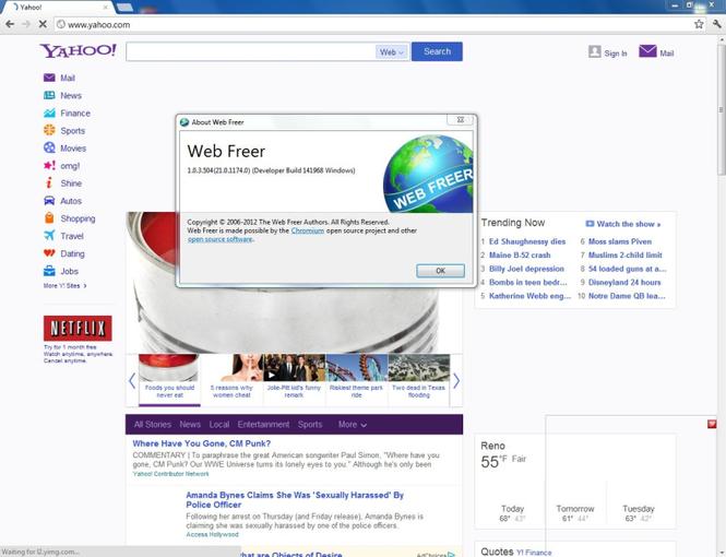 Web Freer screenshot 2