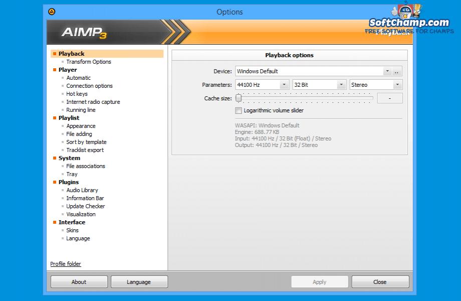 AIMP Options
