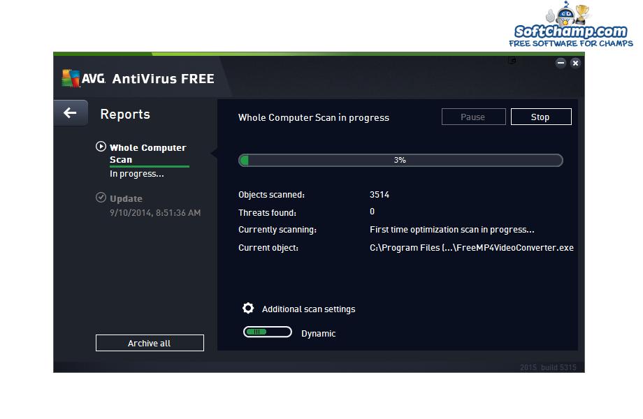 AVG Antivirus FREE Computer Scan