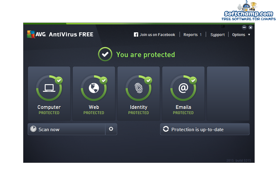 AVG Antivirus FREE System Status
