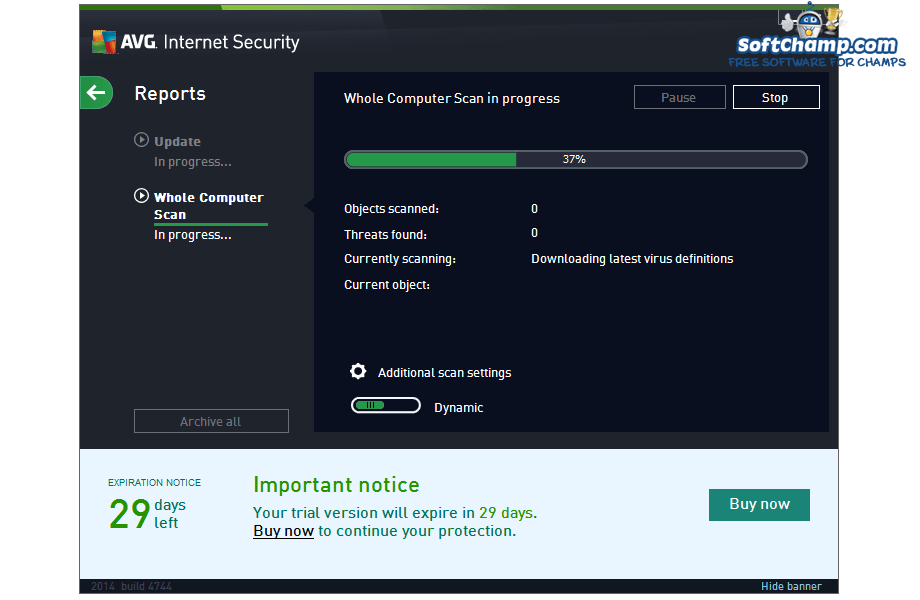 AVG Internet Security Computer Scan