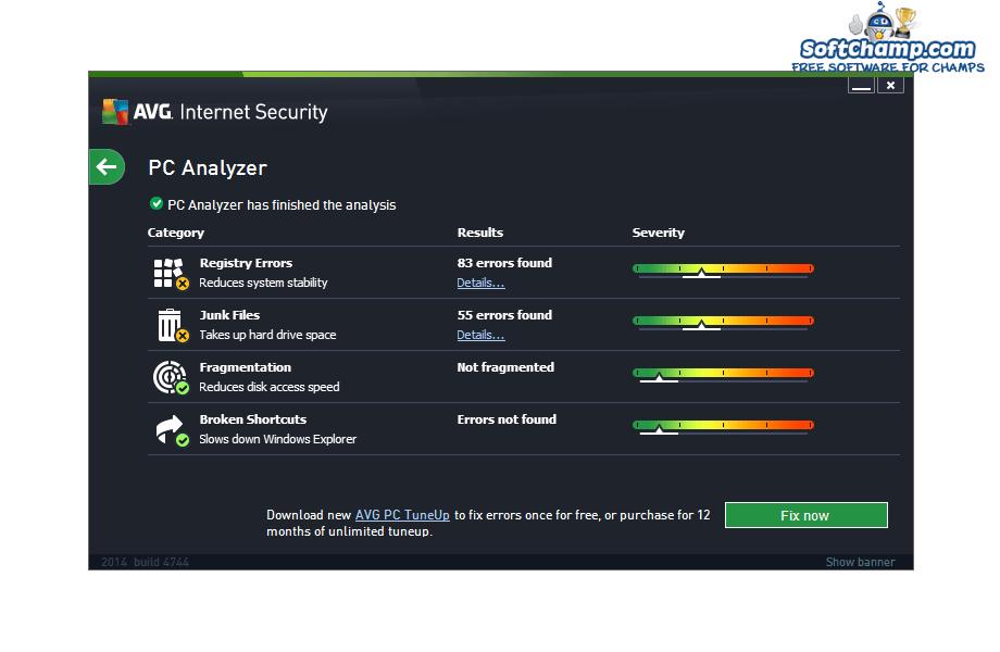 AVG Internet Security PC Analyzer