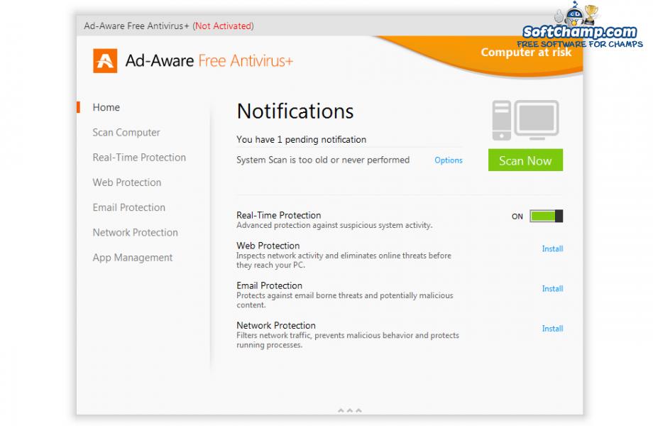 Ad Aware Free Antivirus Notifications