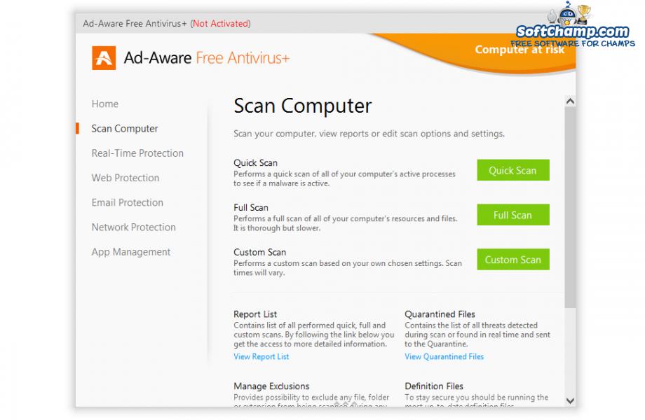 Ad Aware Free Antivirus Scan Computer