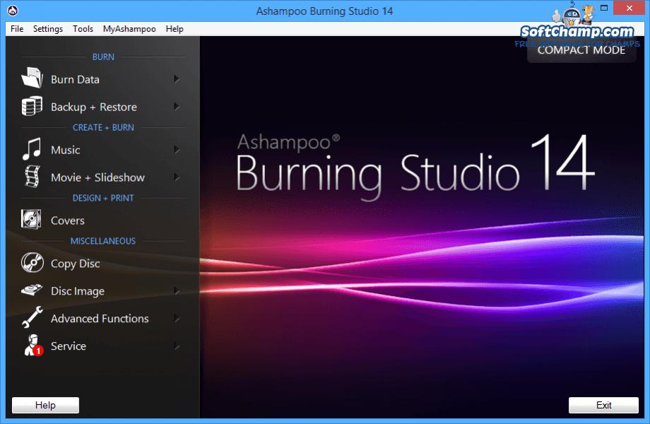 Ashampoo Burning Studio Normal mode