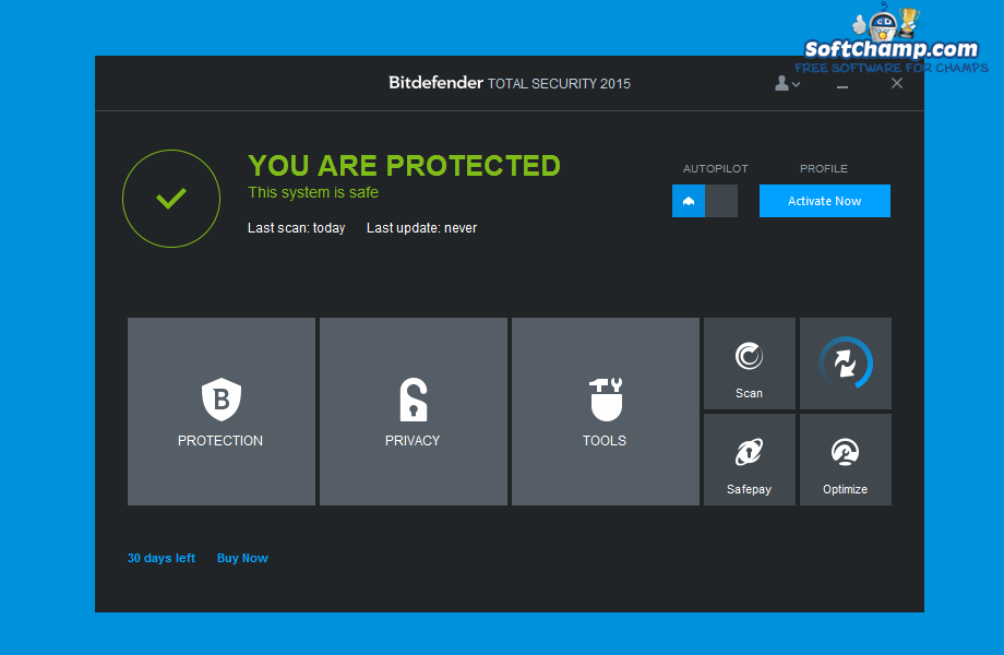 Bitdefender Total Security System Security Status