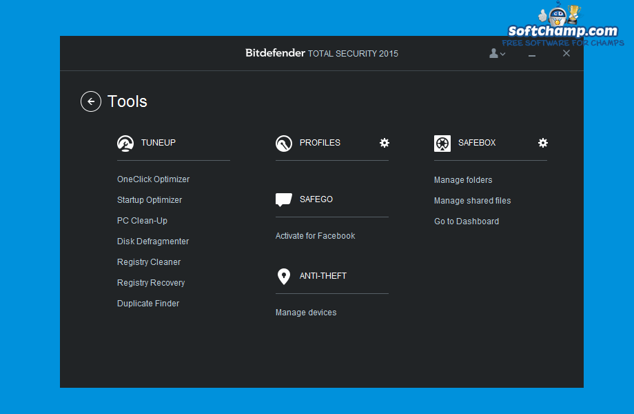 Bitdefender Total Security Tools