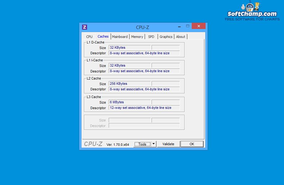 CPU Z Cache Information