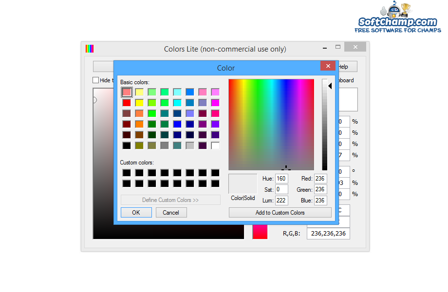 Colors Pick from Dialog