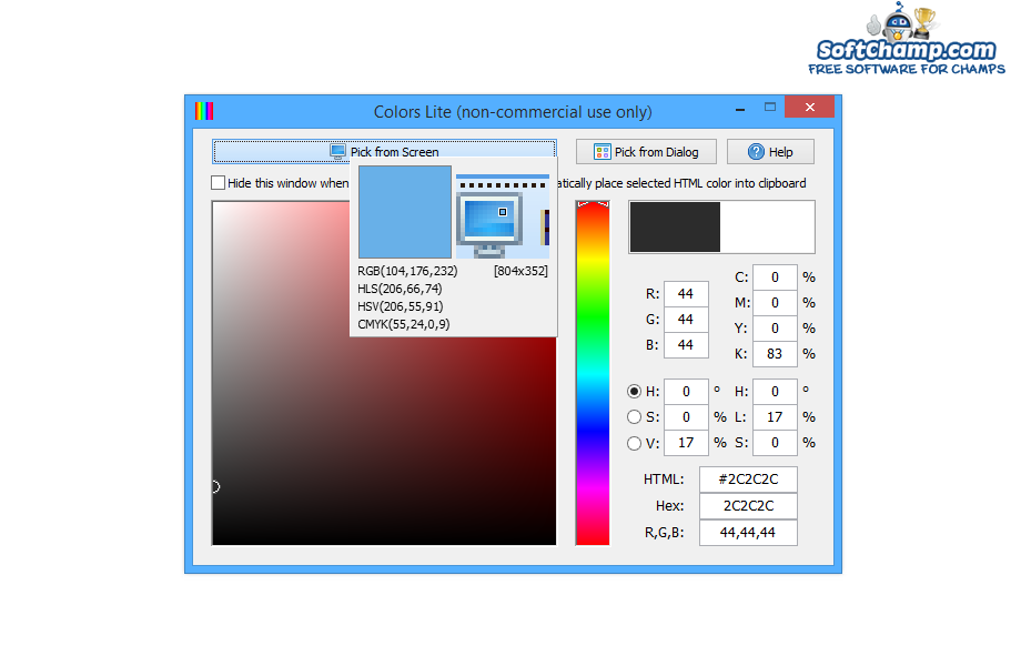Colors Pick from Screen