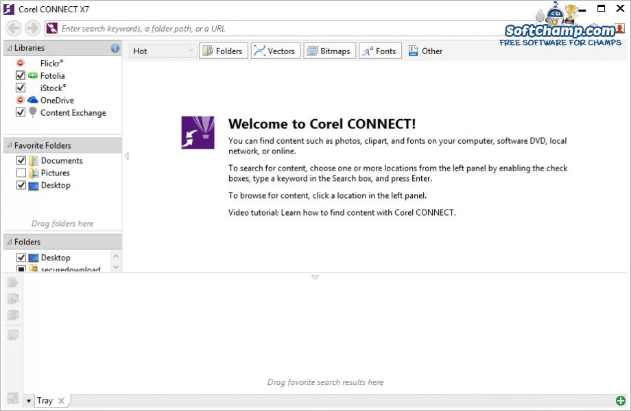 CorelDRAW Graphics Suite Content Organizer