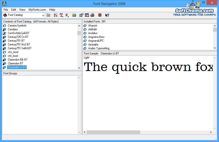 CorelDRAW Graphics Suite Font Navigator