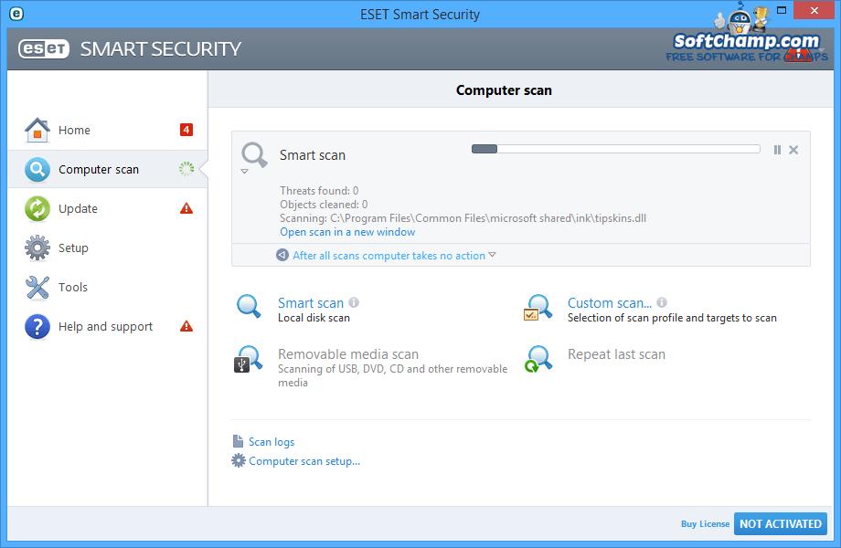 ESET Smart Security Computer scan