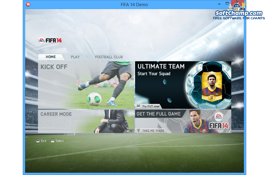 FIFA 14 New Main Menu