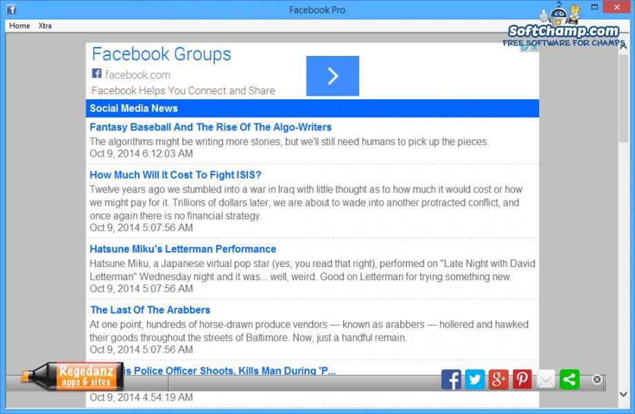 Facebook Pro Xtra
