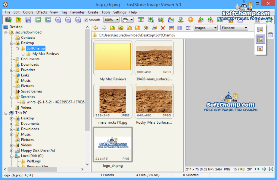 FastStone Image Viewer Layout Options