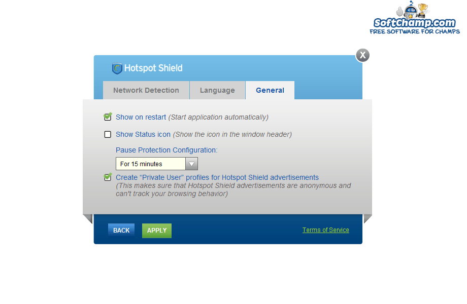 Hotspot Shield Pause Protection Configuration