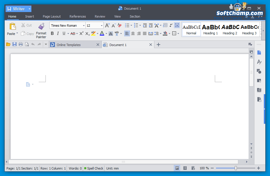 Kingsoft Office Suite Free Writer