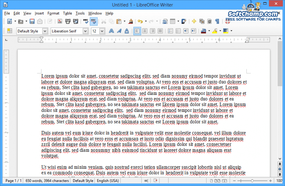LibreOffice Writer Text Document