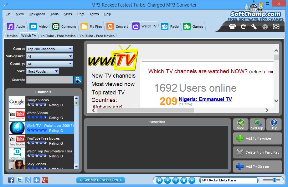 MP3 Rocket Watch TV