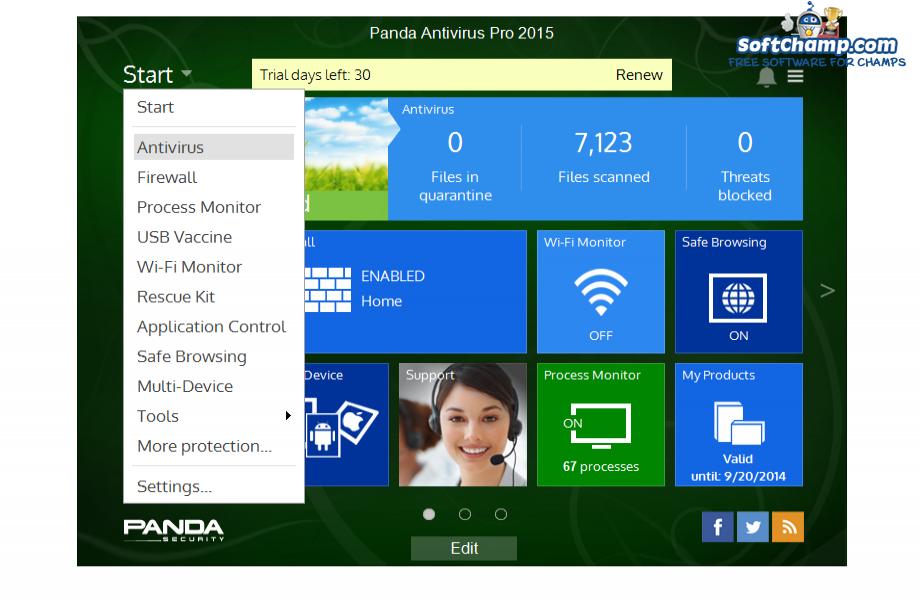 Panda Antivirus Pro All Utilities