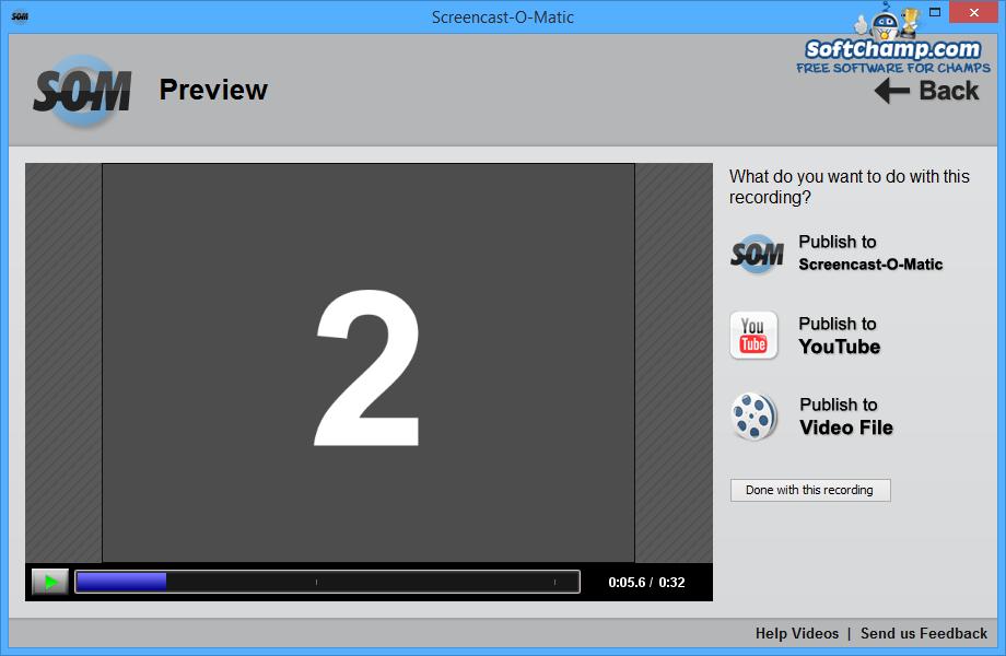 Screencast O Matic Preview