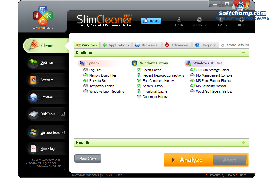SlimCleaner Free Windows Cleaner