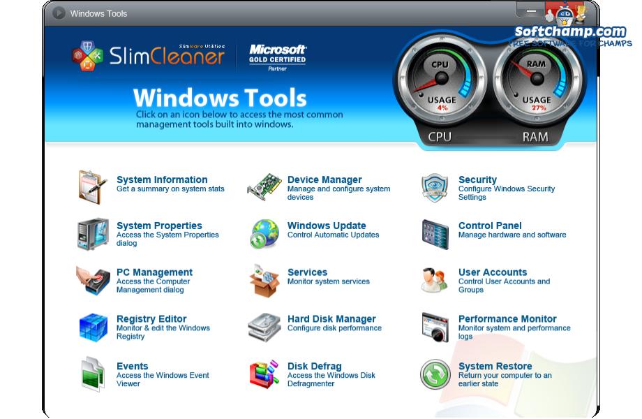 SlimCleaner Free Windows Utilities