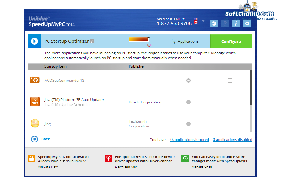 SpeedUpMyPC PC Startup Optimizer
