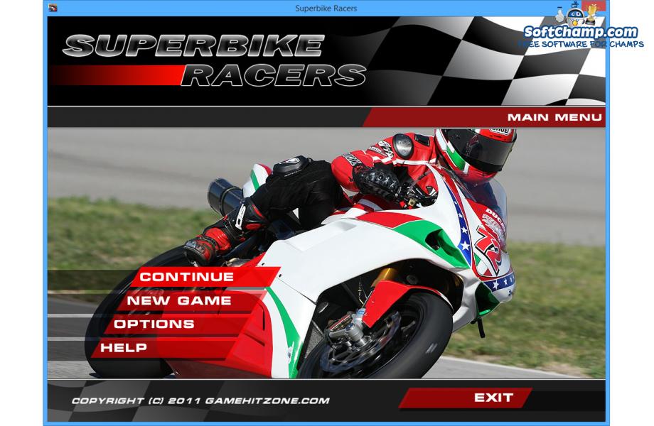 Superbike Racers Main Menu