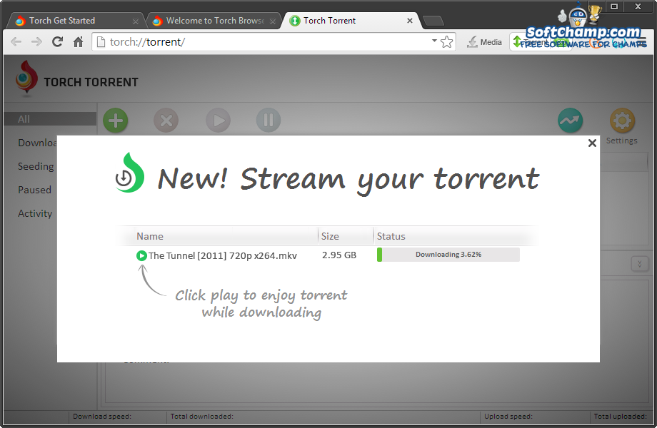 Torch Browser Torrent client