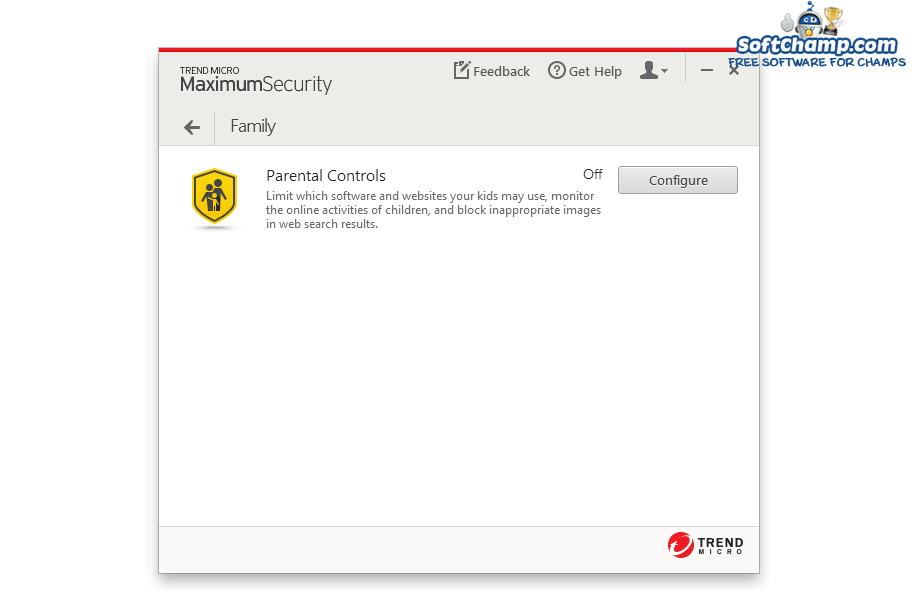 Trend Micro Maximum Security Parental Control
